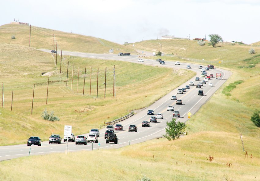 Weekday traffic starts to build near the 4 p.m. hour on Highway 93 near West 82nd Avenue, which is the Leydon Rock exit. This intersection is just north of where the parkway will end at its southwest point.