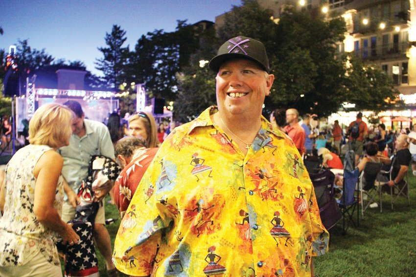 Scott Arnson, a 54-year-old Centennial resident, came with a group and soaked in the atmosphere. It was his first time at a concert at Streets at SouthGlenn.