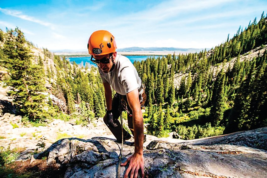 After sustaining an injury that led to nerve damage and a loss of movement in his right arm, Dan Boozan trains to climb the Grand Teton, which he later summited with a group from Paradox Sports in 2014.