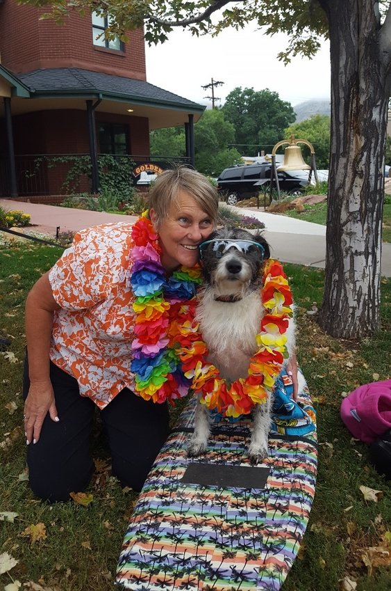 Guido the Magnificent and his human Bonnie Brown-Bott have their picture taken during the second annual Toby's Pet Parade & Fair. This year, the event, which benefits Foothills Animal Shelter, takes place Sept. 7 in downtown Golden. Guido will serve as this year's grand marshal.