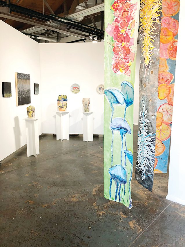 D'art Gallery in the Santa Fe Arts District has art from local contemporary artists. The gallery's members pay dues to participate in shows.