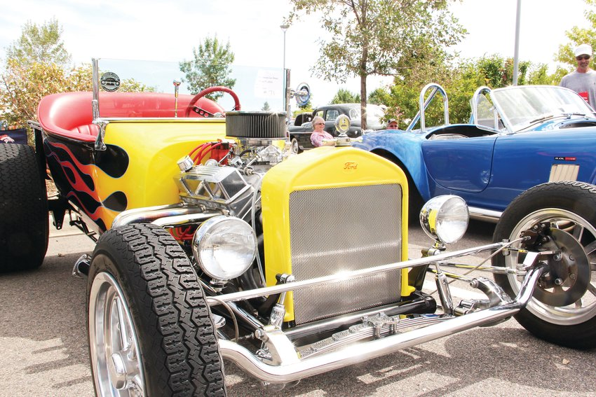 Cars on display at the Sept. 7 Centennial Car Show.