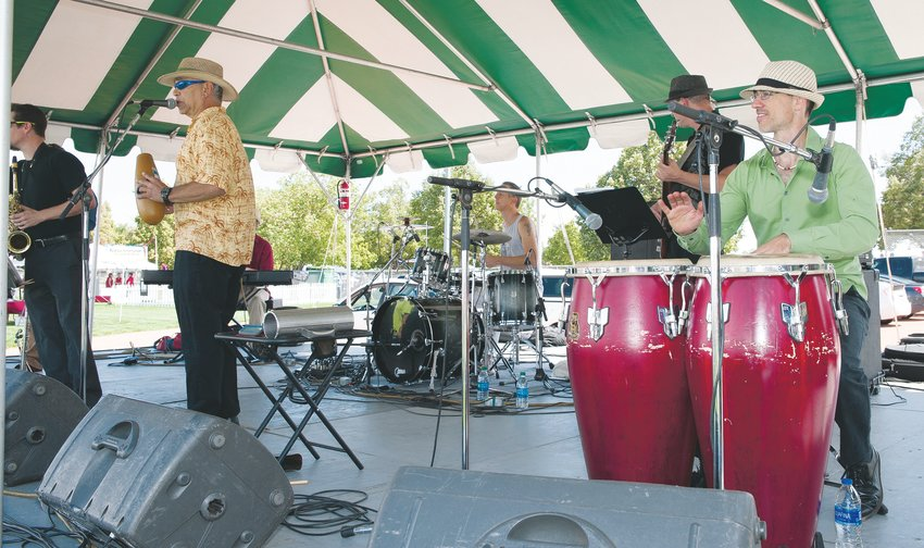 """Onda,"" a Latin-American dance band from Nederland, entertains from one of two stages at this year's annual Thornton Harvest Fest Sept. 7 at Community Park."