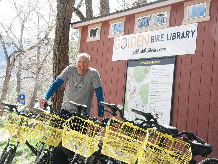 Craig Berkley stands with some of the Golden Bike Library's fleet of bicycles available to rent for residents and visitors alike. The Golden Bike Library is located behind the Golden Visitor's Center, 1010 Washington Ave., on the Clear Creek path. Hours are 10 a.m. to 4 p.m. Thursday through Sunday, through October. Cost is free for two hours or $10 for a full-day rental. Youth and adult bikes are available. Learn more at www.GoldenBikeLibrary.com.