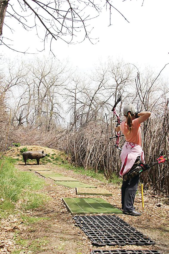 A girl aims for her target during one of the Golden High Country Archers' Buckle Series tournaments in 2016. While the Golden High Country Archers' range is only open to members for recreational use, anybody is welcome to compete in the club's tournaments.