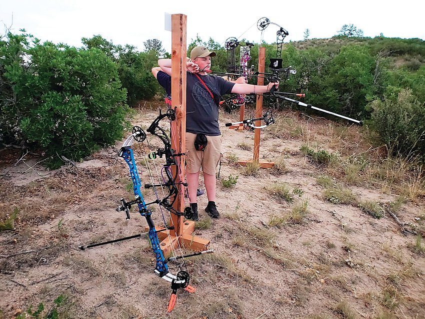 Nathan Wilken of Ken Caryl shoots at the Highlands Ranch Community Association's Backcountry Wilderness Area's 3D archery range. The range — one of three in the Backcountry — opened in June 2018 to fill a need for more 3D ranges in the metro area.