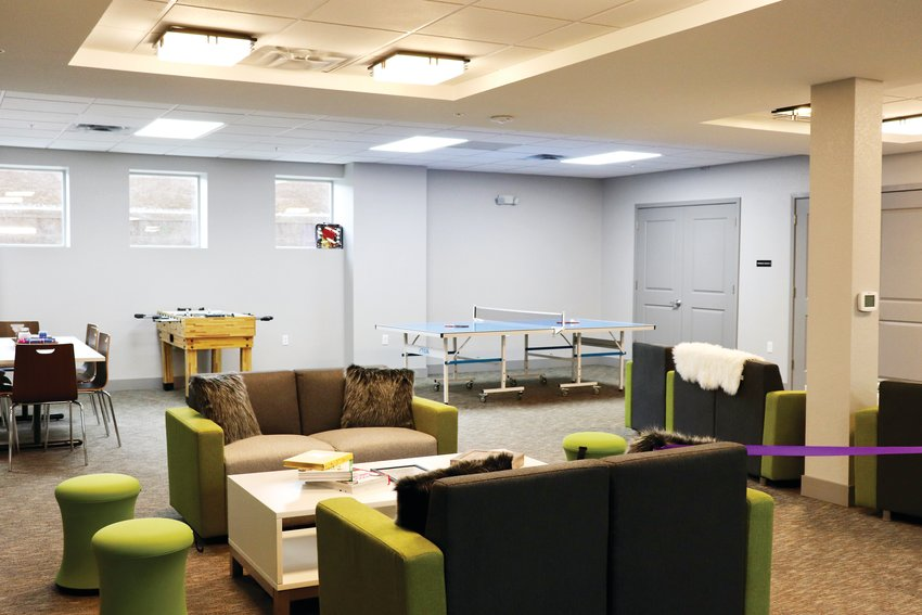 "The ""Mama Bear Cave"" in the basement of the newly-constructed center, where teen moms will have a place to spend time and get to know one another while at Hope House."