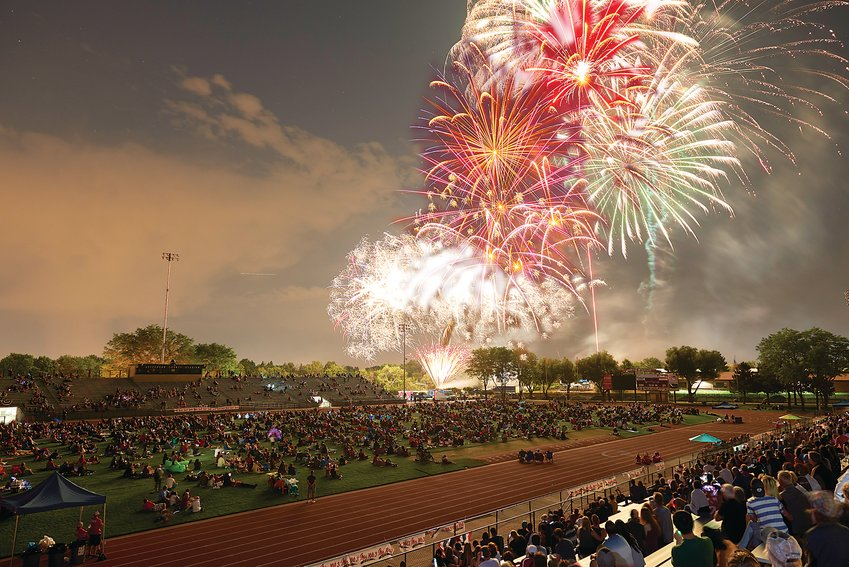 Lakewood's Big Boom Bash! fireworks event has turned Jeffco Stadium into a Fourth of July destination for many area families. The side areas of the stadium grounds are used as a place for crafts, games and food trucks during the event.