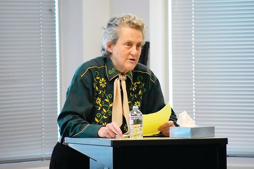 Temple Grandin spoke at a Developmental Pathways roundtable on Sept. 9.