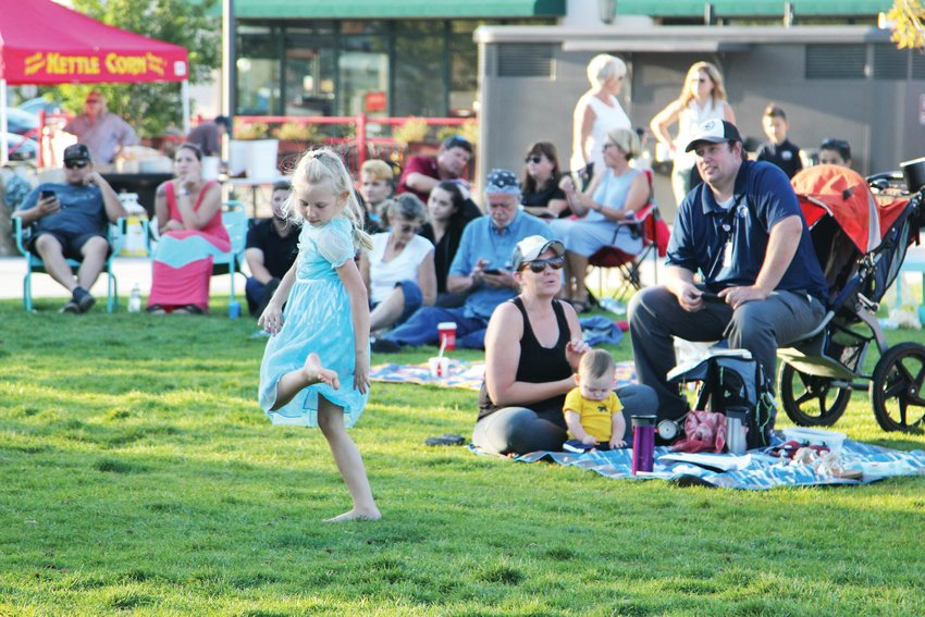 A girl dances to music from lip sync videos at the Sept. 9 event in Castle Rock for Lip Sync to the Rescue.