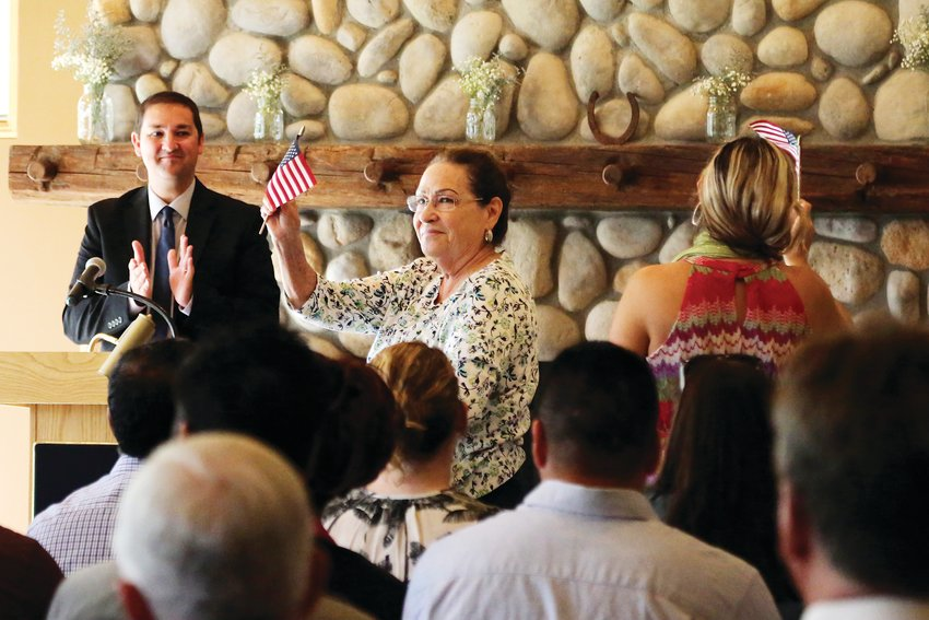 Thirty-five people from 21 countries became American citizens Sept. 6 at a naturalization ceremony held at Four Mile Historic Park.
