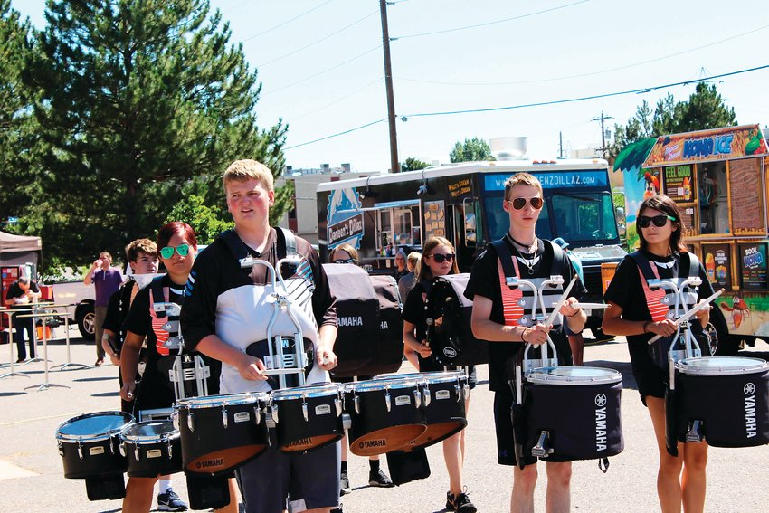 Lakewood High School's drumline kicked off the festivities at the Action Center's block party.