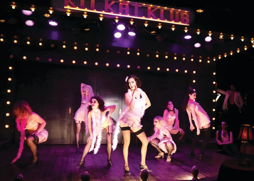 """Don't Tell Mama"" features the Kit Kat Klub dancers in ""Cabaret"" at Town Hall Arts Center in downtown Littleton."