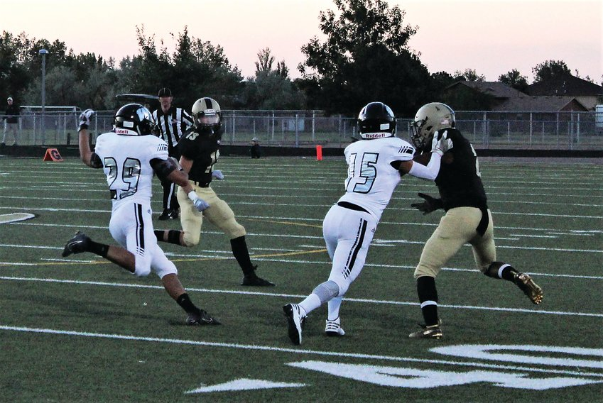 Westminster sophomore Jason Valencia takes the carry Sept. 13 against Prairie View.