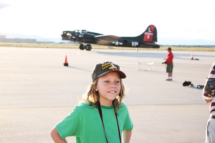 James Carr, 11, an aviation fanatic, was thrilled to finally lay eyes and hands on his all-time favorite airplane.