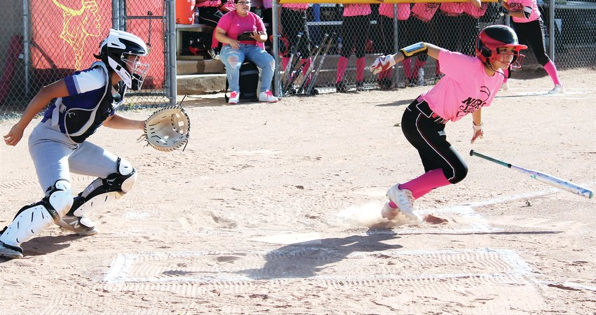 Northglenn junior Elianna Riuz sprints down the line Sept. 20 against Broomfield after laying down a bunt.