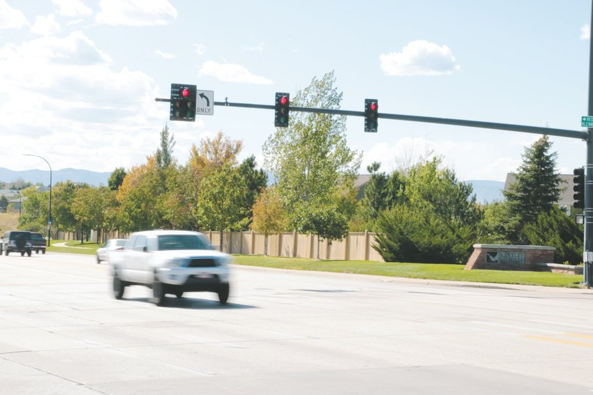 Douglas County drivers who are caught running red lights in the month of October will automatically receive a citation.