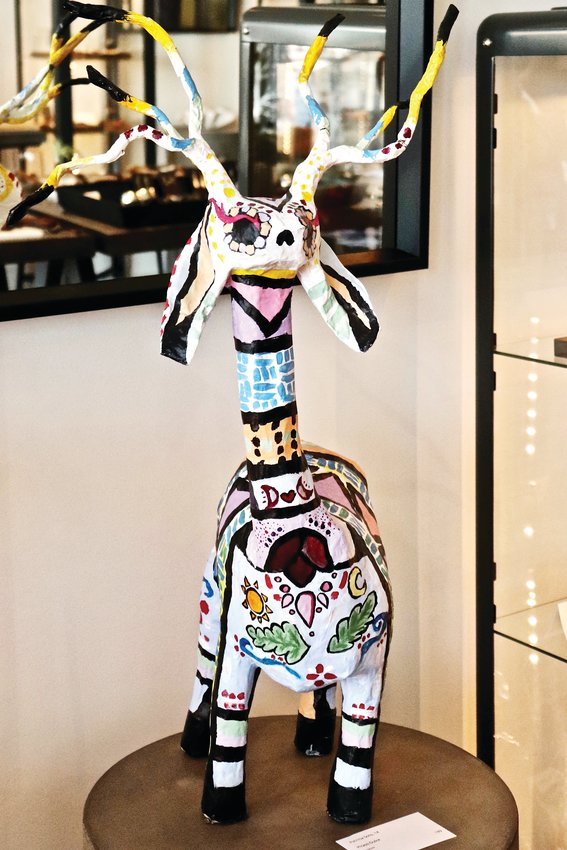 "Sculpture ""Picasso Dulce"" by student Patricia Soto, displayed in artisan jewelry gallery Balefire Goods. The piece was one of five to earn an honorable mention in the judging."