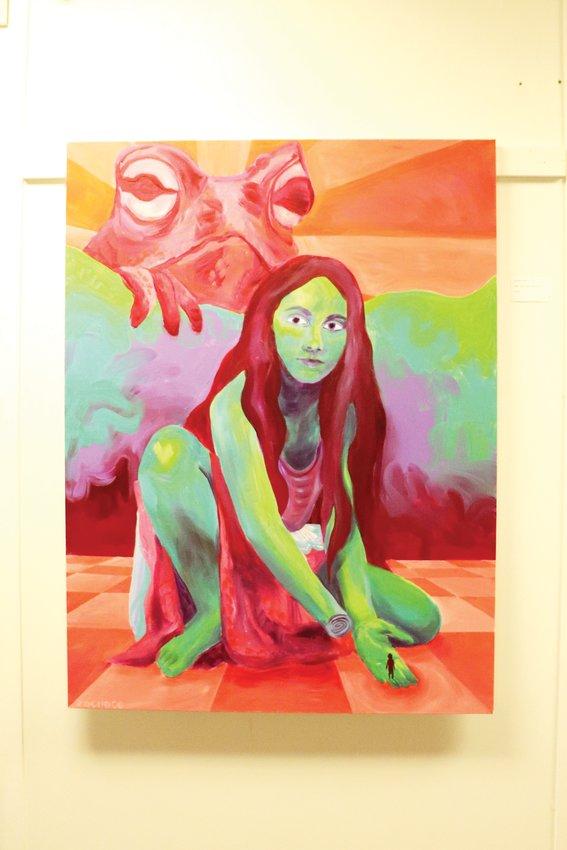 "Painting ""Dear Toad, Show Me God,"" created by 17-year-old Zoe McCafferty. The painting took third place in the contest."