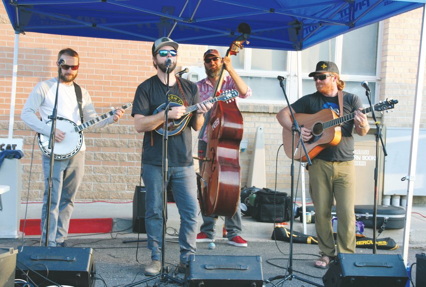 Timber! Bluegrass of Boulder performs at Bentgate Mountaineering's 2019 Ski Season Kick-off Party, which took place on Oct. 3 at the American Mountaineering Center in Golden.