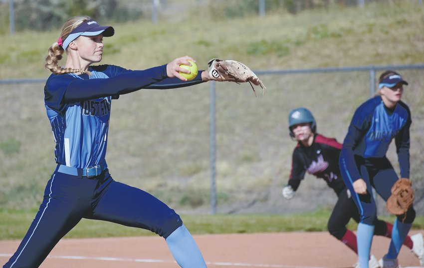 Ralston Valley sophomore Ashley West gave up just four hits and three runs in the Mustangs' 8-3 victory over Chatfield on Saturday, Oct. 5. The Mustangs are fighting to make the 32-team Class 5A postseason field.