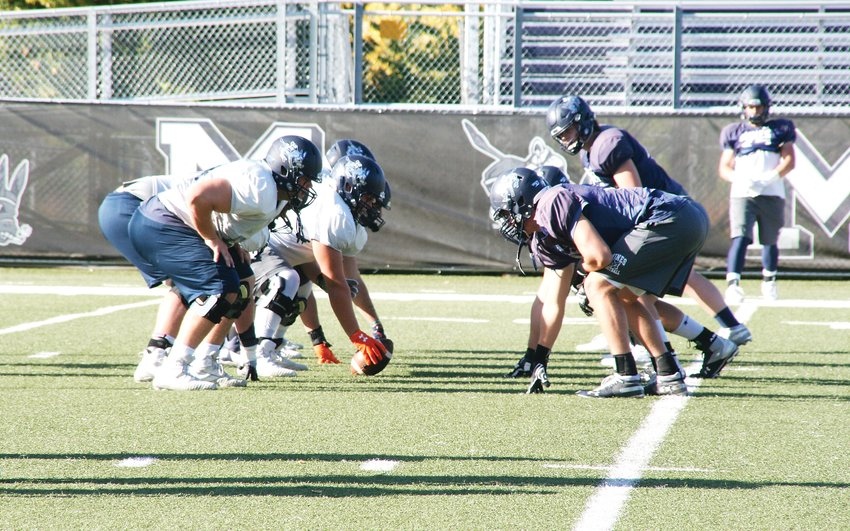 Colorado School of Mines football players practice on Oct. 8 at Marv Kay Stadium. The Orediggers will be taking on the Fort Lewis College Skyhawks for their homecoming game on Oct. 19.