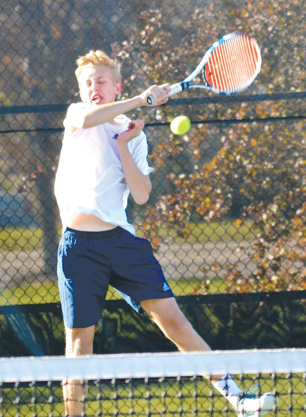 Valor Christian sophomore Jack Scherer rallied to capture third place at No. 3 singles Oct. 19 at the Gates Tennis Center. He posted a 4-6, 6-1,6-3 win over Will Jones of Heritage.