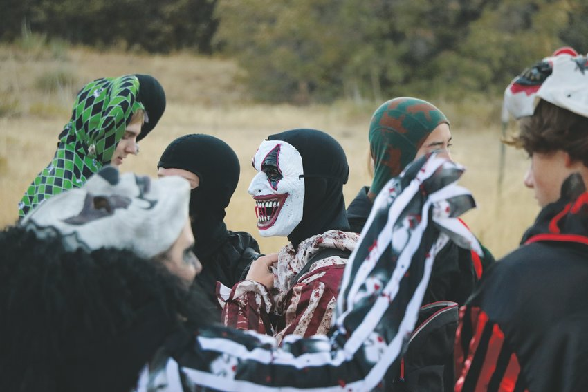 High school students from across Douglas County volunteered to dress in costumes and scare patrons during the 2019 Haunted Forest in the Highlands Ranch Backcountry. The event, which cost $13 per person, raised funds for the Backcountry.