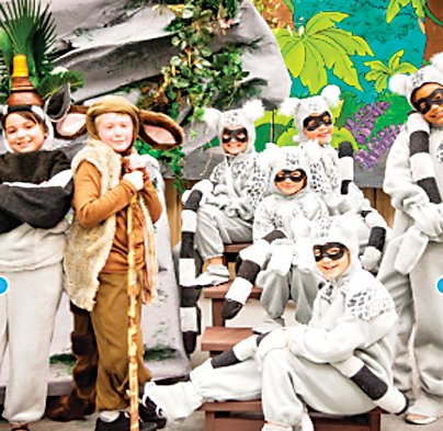 "Students in South Jeffco Children's Theatre perform ""Madagascar,"" a production funded through the Innovation Acceleration Fund last year."