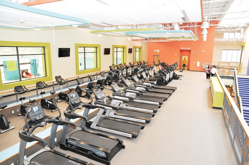 A view of the cardio area and indoor track at Thornton's new Trail Winds Recreation Center, at 136th Avenue and Holly Street. The facility officially opens on Nov. 4.