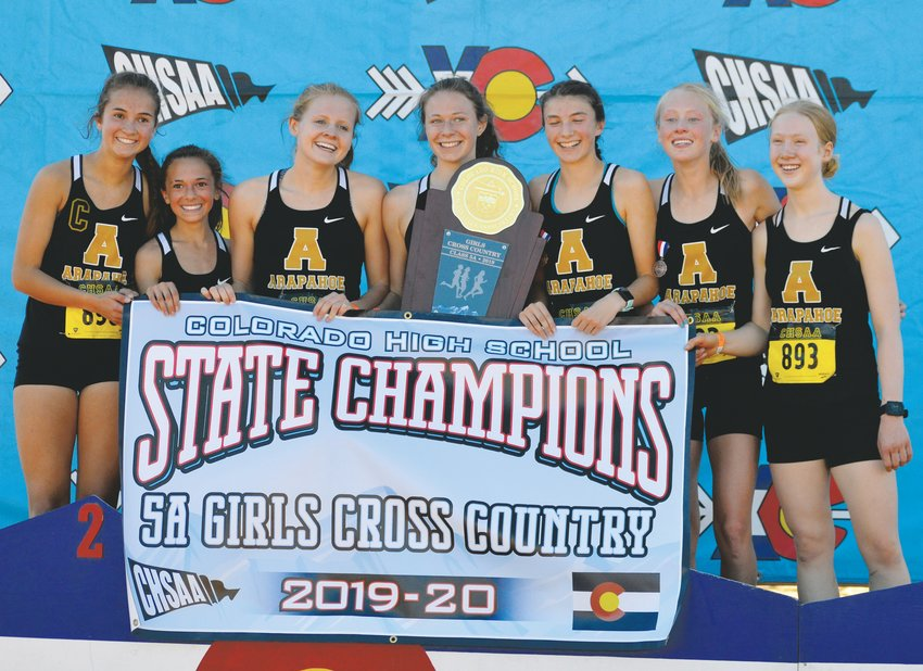 Arapahoe won the 5A girls state cross country championship on Oct. 26 at the Norris Penrose Events Center in Colorado Springs. The  Warriors finished with 69 points while second place Cherry Creek came in with 99 points.