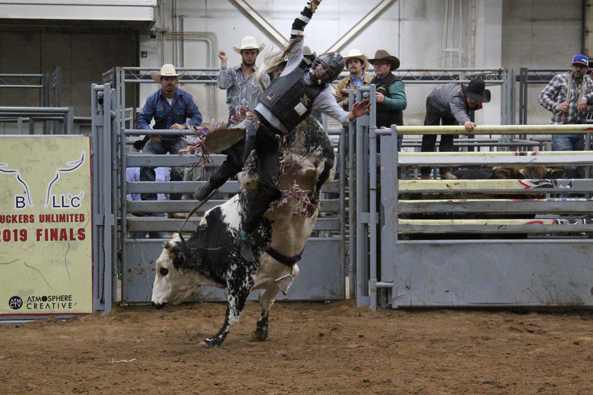 More than 46 competitors aimed for a championship title in the Buckers Unlimited finals on Oct. 26. Bull riders came from a variety of backgrounds, from real cowboys who work on ranches to men who grew up in cities but found a passion for bull riding.