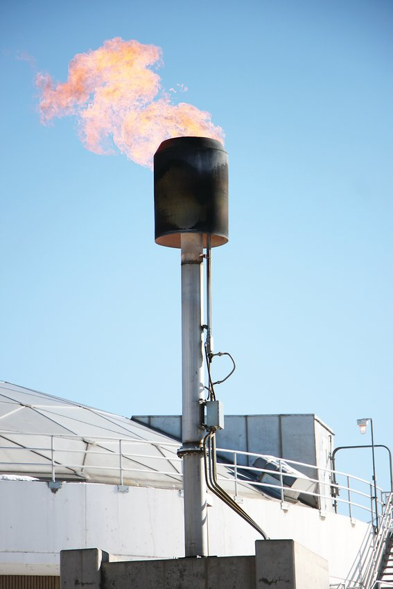 The long-burning methane flare was extinguished on Oct. 31 at South Platte Water Renewal Partners, the southwest metro area's wastewater treatment plant. The plant will now capture waste gases, to be sold as fuel to Xcel Energy.