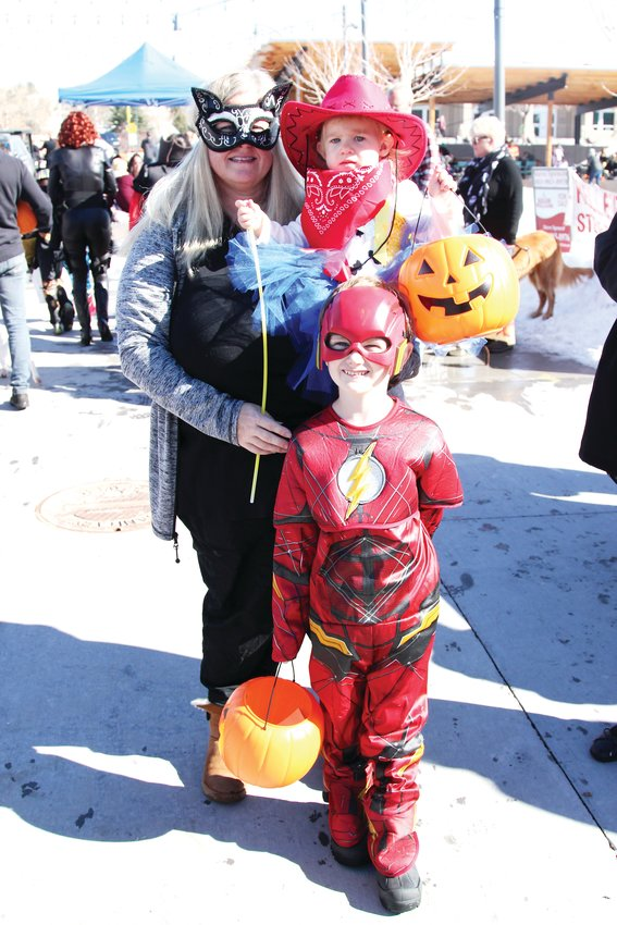 Carrie Condon took her children, 6-year-old Gavin and 1-year-old Addison to the festival ahead of plans to trick-or-treat later that day.
