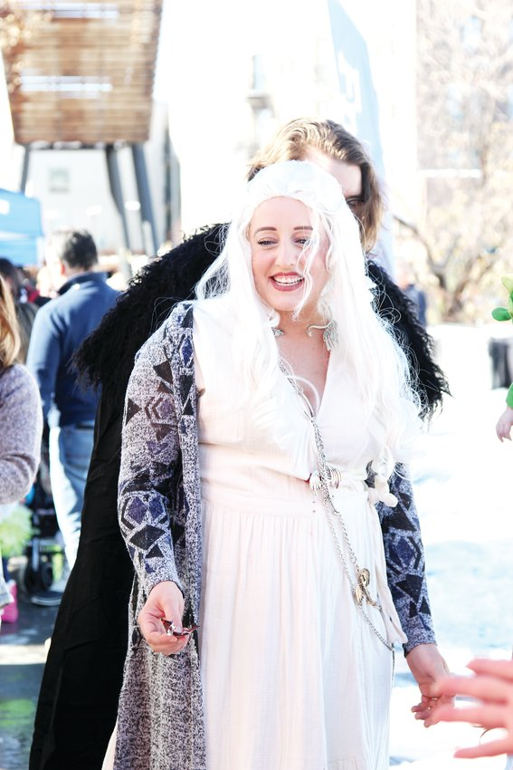 Bethy Macegan dressed as Daenerys Targaryen from Game of Thrones for the Oct. 31 festival in Castle Rock.