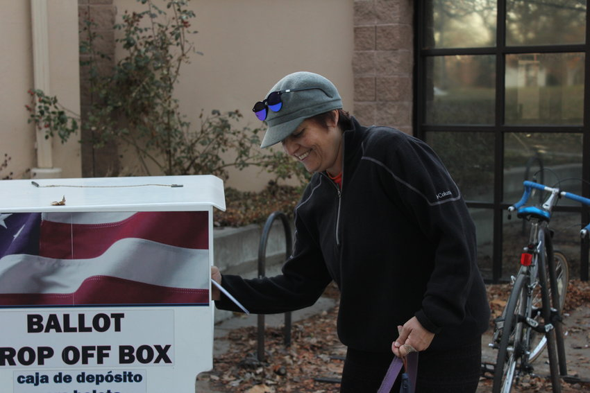 Vikki Otero drops off her ballot at the Washington Park Recreation Center drop off site on Election Day. Otero said that she wanted to make sure her voice was heard even though she felt that none of this year's ballot items impacted her.