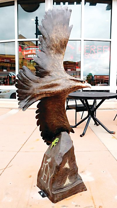 """American Gold,"" a bronze sculpture by Dimitry Domani, won the Douglas County Art Encounters People's Choice Award. Sculptures from the program can be found across the county."