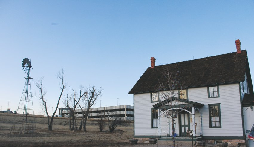 Schweiger Ranch now sits with a backdrop of the RidgeGate Station, a juxtaposing view of old and new. The 38-acre ranch is envisioned to retain its historic feel with plans to include a community for people with developmental disabilities on the northern part of the property.