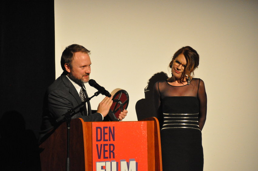 "Rian Johnson, director of ""Knives Out,"" receives the 2019 John Cassavetes Award at the 42nd annual Denver Film Festival. Johnson grew up in the Englewood area and fondly remembered seeing movies with his grandparents at the Chez Artiste."
