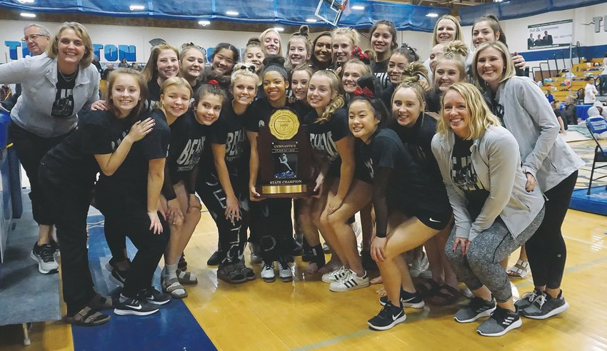 Pomona's gymnastics team made history Nov. 7 at Thornton High School. The Panthers won their fifth straight Class 5A team title. It the first time a gymnastics program in Colorado has won the team title in the largest classification five times in a row.
