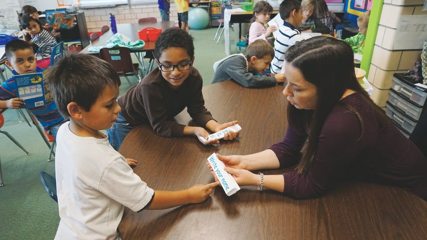 Students at Foster Elementary practice their reading and speaking skills through the Dual Language program, in which roughly 80% of students are enrolled, to promote both English and Spanish fluency.