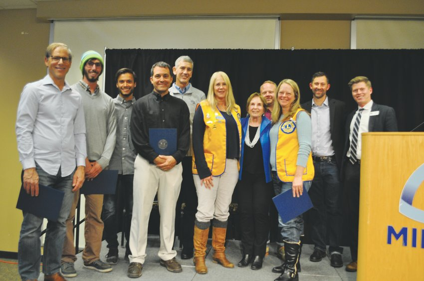 Award recipients gather with Golden Mayor Marjorie Sloan during the Mayor's 2019 Community Celebration, which took place on Oct. 30 on the Colorado School of Mines campus in Golden.