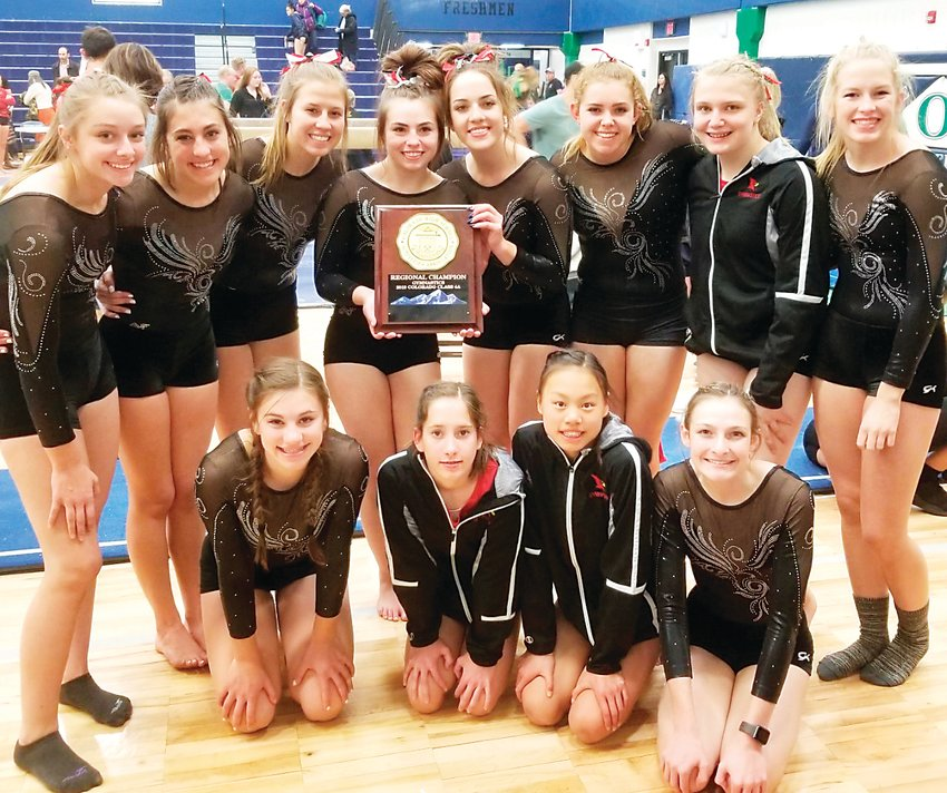 The Elizabeth High School gymnastics team took first place in the 4A State Championships held at Thornton High Nov. 8.