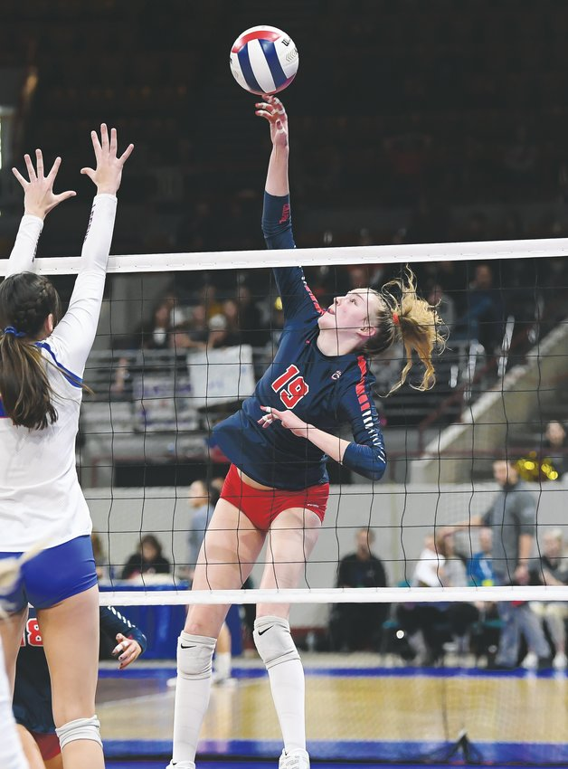 Chaparral's Julianna Dalton (19) presented all kinds of problems for opponents all over the court in helping the Wolverines win the state title.