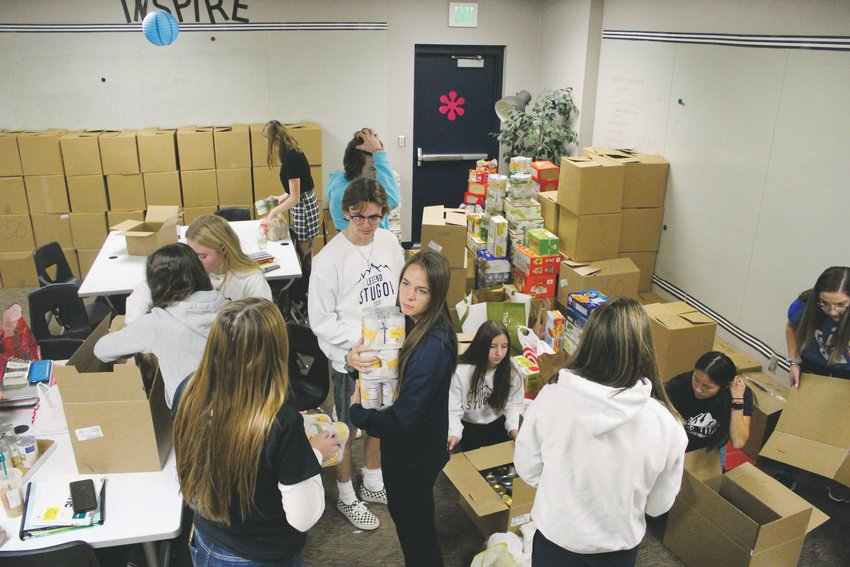 Legend's student government collected food at each classroom and throughout the community to donate to the Parker Task Force Nov. 20.