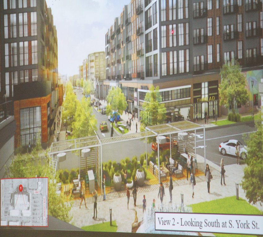 A rendering of what part of The Streets at SouthGlenn could look like if the City of Centennial approves developers' plans.