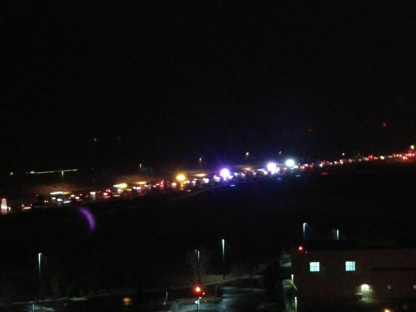 A view from Sky Ridge Medical Center of the mass crash Nov. 21.