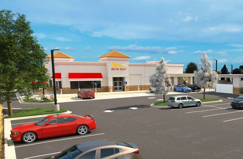 An artist's rendition of the In-N-Out Burger proposed to go near the Park Meadows mall.