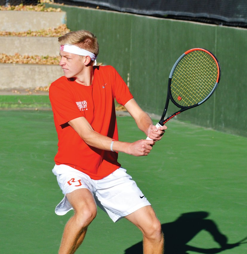 Regis junior Morgan Schilling is the Colorado Community Media South Metro Boys Tennis Player of the Year.