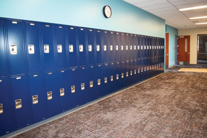 Quist Middle School Principal Trina Norris-Buck said one of the things her students are looking forward to in their new school building is having lockers. The students are currently attending classes at Riverdale Ridge High School and the new school opens Dec. 12. Classes begin there Jan. 7.